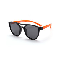 Kids Diamond Shape Silicone Sunglasses Orange Frame