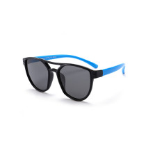 Kids Diamond Shape Silicone Sunglasses Blue Frame