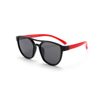 Kids Diamond Shape Silicone Sunglasses Red Frame