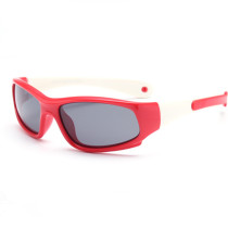 Kids Riding Sports Polarized Light Silicone Sunglasses Matching Color Adjustable Frame