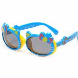Kids Hello Kitty UV Protection Silicone Fashion Sunglasses