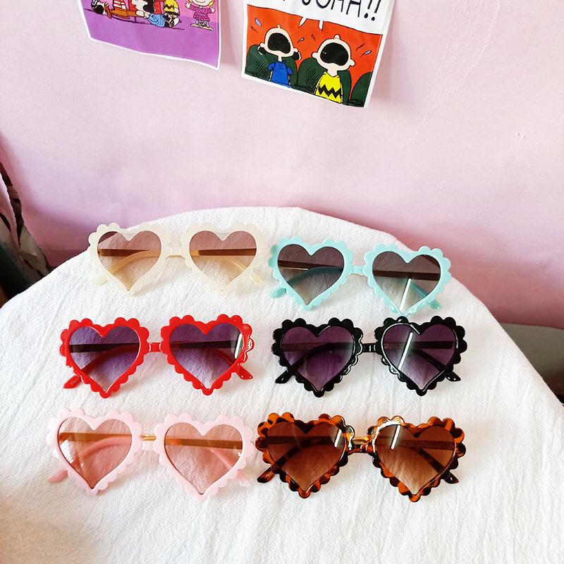 Kids Heart Shaped Lace Anti-UV ProtectionFashion Sunglasses