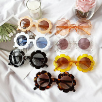 Kids Cute Sunflower Fashion Silicone Sunglasses