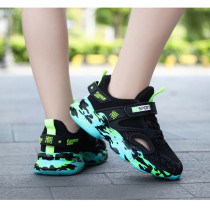 Boy Fashion Net Breathable Hollow Out Sports Running Lightweight Sneakers