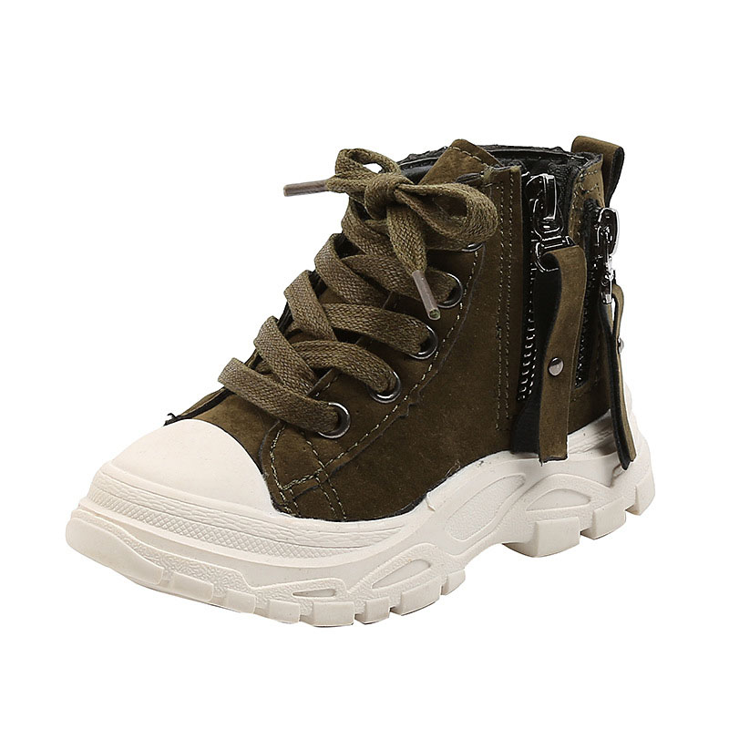 Toddler Kids Waterproof Leather Martin Boots