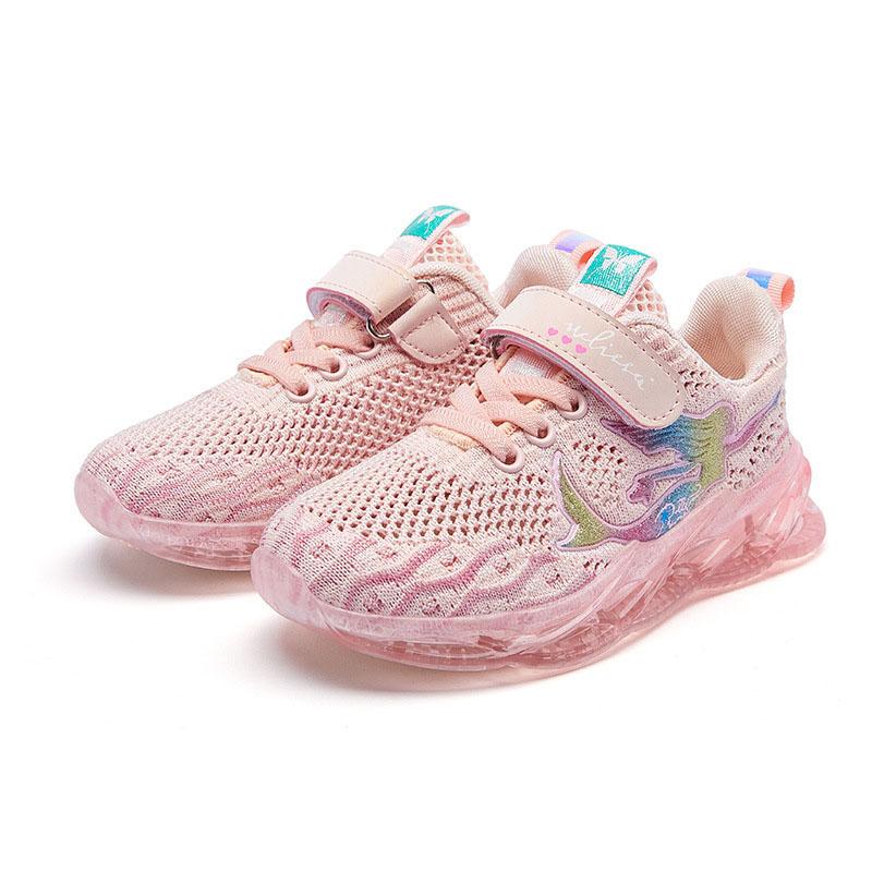 Kid Girl Mesh Breathable Mermaid Sport Sneakers Shoes