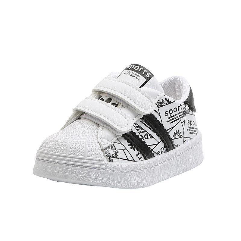 Toddler Kids White Sports Sneakers Flat Shoes