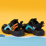 Kid Net Cut Out Lace Up Sport Running Sneakers Sandals Wing Shoes