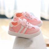 Baby Toddlers Kids Stripes Net Breathable Soft Sneakers Walking Shoes