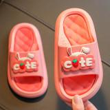 Kids Cute Rabbit Strawberry Summer Indoor Home Slippers