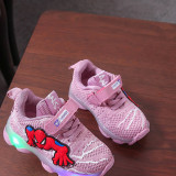 Toddler Kid LED Light Spider Man Mesh Breathable Sneakers Shoes