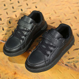 Kids Classic White Sneakers Flat PU Leather Shoes For Boy Girl
