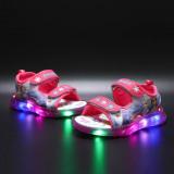 Kid Girl LED Light Frozen Princess Sandals Shoes