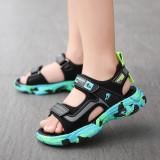Boy Matching Color Lightweight Flat Sandal Shoes