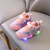Toddler Kid Girl LED Light Frozen Princess Elsa Breathable Sports Sneakers Shoes