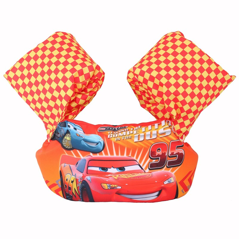 Toddler Kids Racing Cars Swim Vest with Arm Wings Floats Life Jacket