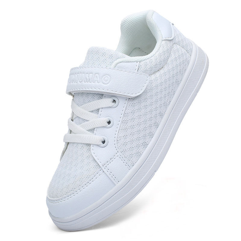 Kids Classic White Mesh Breathable Sneakers Flat Shoes For Boy Girl