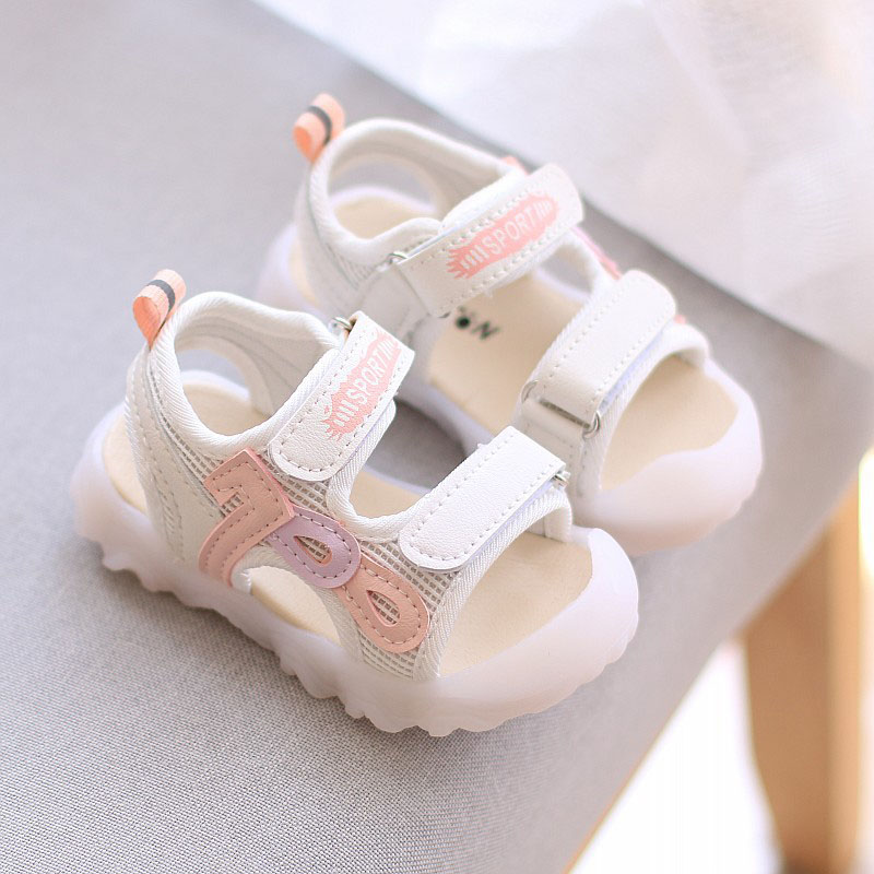 Baby Toddlers Toe Half Wrapped Learn To Walk Summer Sandals Shoes