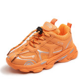 Kids Mesh Breathable PU Leather Running Ligthweight Sport Sneakers Shoes
