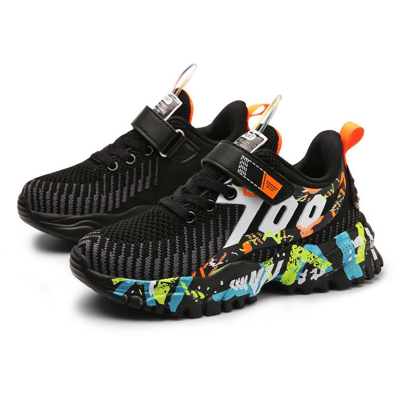 Kids Boy Mesh Breathable Prints Sport Sneakers Shoes