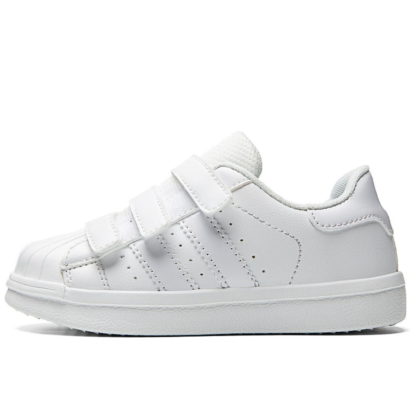 Kids Classic White Shell Toe Sneakers Flat Shoes