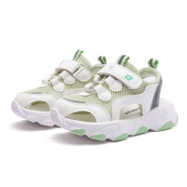 Kid Mesh Net Cut Out Sport Running Sneakers Sandals Shoes