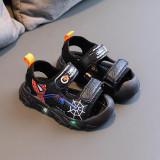 Toddler Boy LED Light Spider Man Non-Slip Summer Beach Sandal Shoes