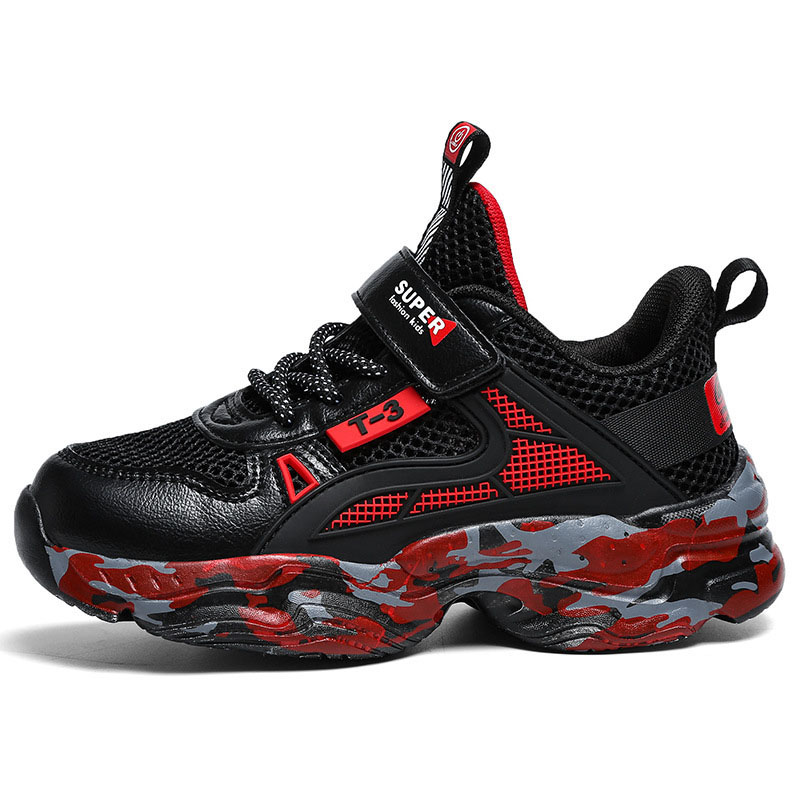 Kid Boy Mesh Breathable Fitness Lightweight Running Sneakers Shoes