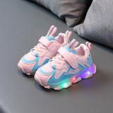 Toddler Kid Girl LED Light Mesh Breathable Sneakers Shoes