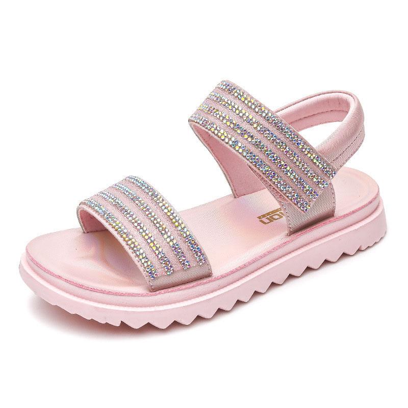 Kid Girl Sequins Rhinestone Sandals Beach Shoes