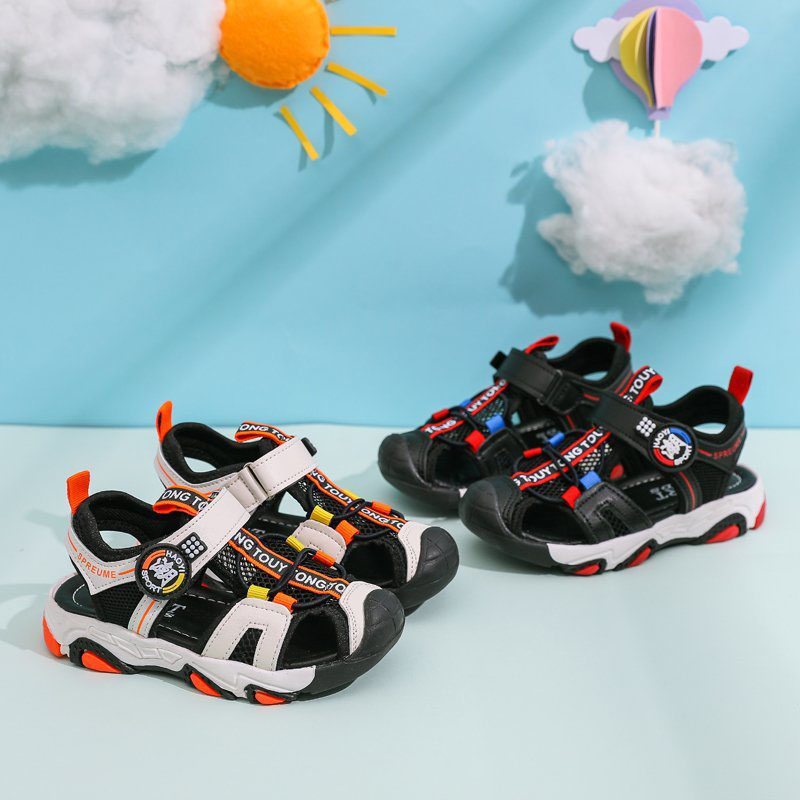 Boy Closed Toe Outdoor Sports Quick Drying Sandal Shoes