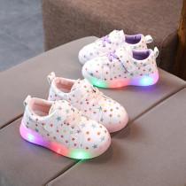 Toddler Kid Girl LED Light Shining Stars Sport Sneakers Shoes