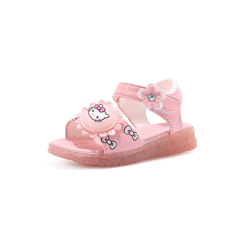 Toddler Kid Girl Bowknot Hello Kitty Pink Beach Sandals Shoes