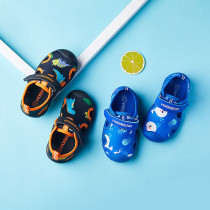 Kids Boy Cotton Dinosaur Beach Sandals Flat Shoes