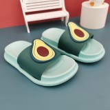 Toddler Kids Cute Avocado Strawberry Fruits Summer Indoor Outdoor Slippers Shoes