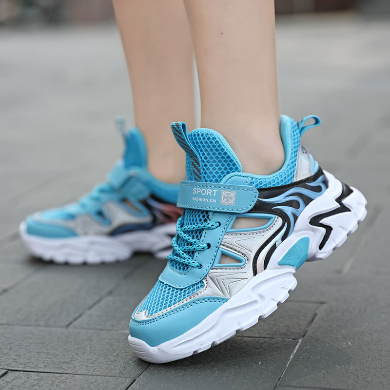 Kid Boys Hollow Out Breathable Sports Sneakers Shoes For Summer