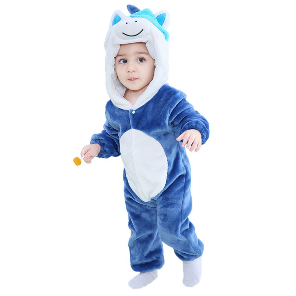 Baby Cute Unicorn Onesie Kigurumi Pajamas Animal Costumes for Unisex Babys