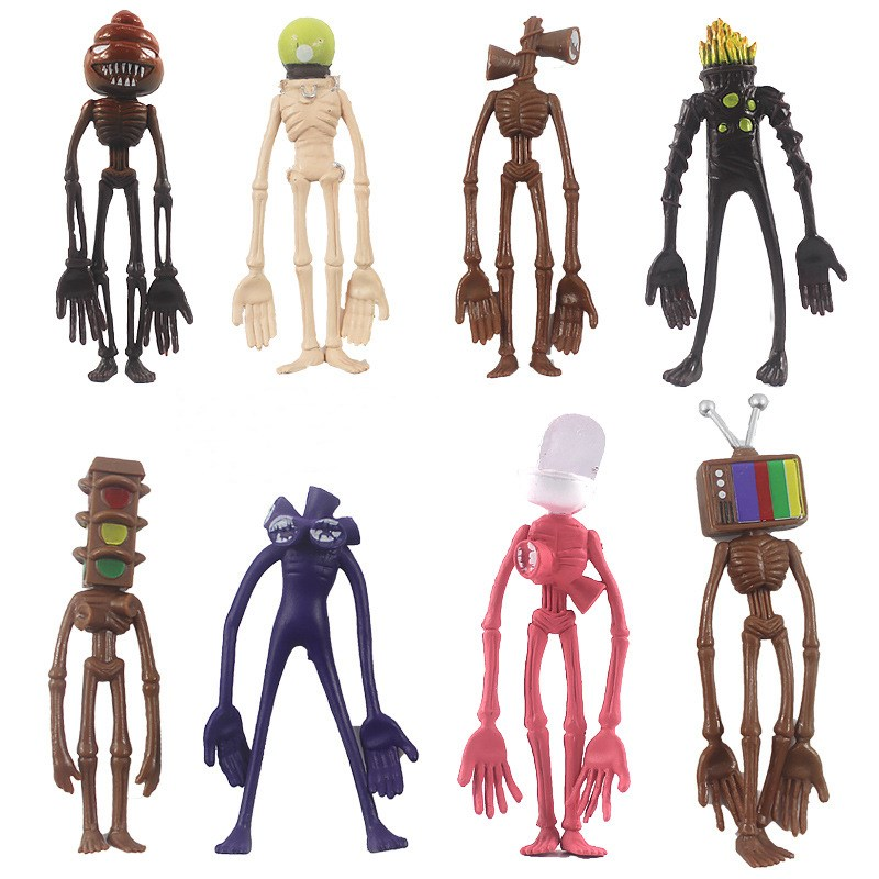 Siren Head Foundation SCP Toys Action Figure Model Sculpture Shy Guy 4Inch 8PCS Sets
