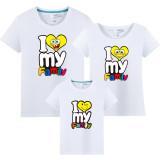 Matching Family SpongeBob I Love My Famliy T-shirts