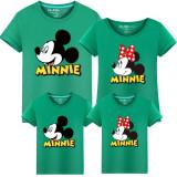 Matching Family Prints Mickey Minnie Mouse Famliy T-shirts