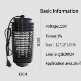 Electronic Mosquito Killer Trap LED Light Lamp Outdoor and Indoor for Home Garden Physical Trap Design
