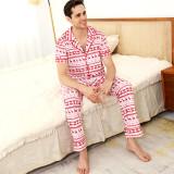 Cute Christmas Deer Printing Family Matching Sleepwear Pajamas Sets