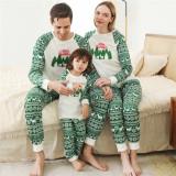 Cute Christmas Deer Pinting Christmas Tree Christmas Family Matching Sleepwear Pajamas Sets