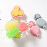 Silicone Fruits Mickey Ice Cream Molds Wich Cap Stick