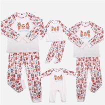 Cute Printed Christmas Gift Christmas Family Matching Sleepwear Pajamas Sets