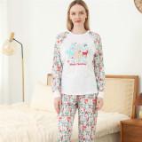 Colorful Christmas Deer Printing Christmas Family Matching Sleepwear Pajamas Sets