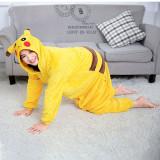 Unisex Adult Pajamas Yellow pokemon Pikachu Animal Cosplay Costume Pajamas
