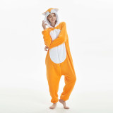 Unisex Adult Pajamas Brown Fox Animal Cosplay Costume Pajamas