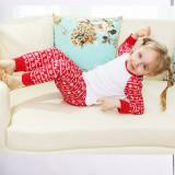 Red Christmas Deer Horn Printing Christmas Family Matching Sleepwear Pajamas Sets