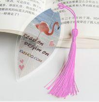 Kidshoo Exclusive Design Transparent Leaf Pressed Bookmark For Readers